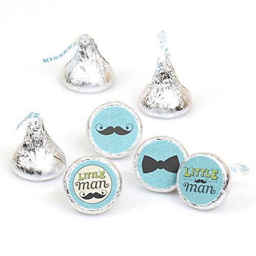 Price comparison product image Dashing Little Man Mustache Party - Baby Shower or Birthday Party Round Candy Sticker Favors - Labels Fit Hershey's Kisses (1 sheet of 108)
