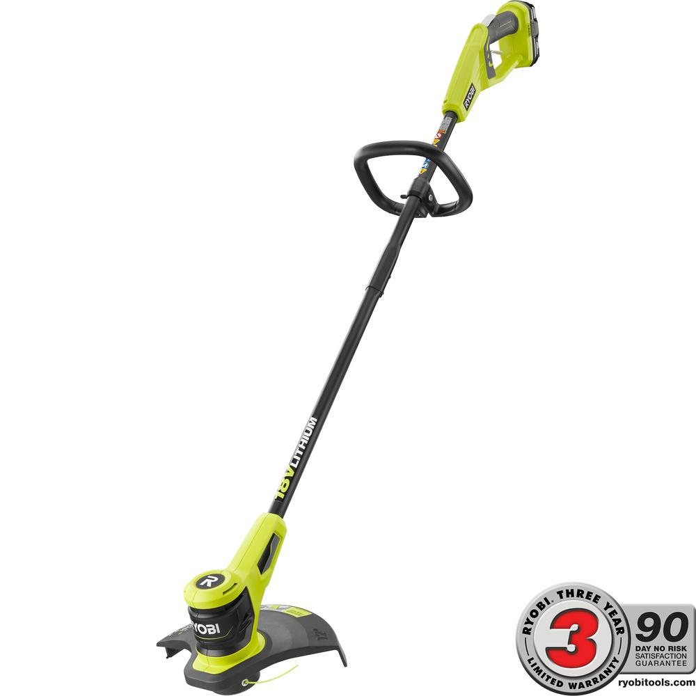 Ryobi ONE+ 18-Volt Lithium-Ion Heavy Duty Durable Electric Cordless String Trimmer 2.0 Ah Battery and Charger Included, Lightweight and Easy To Handle by Generic