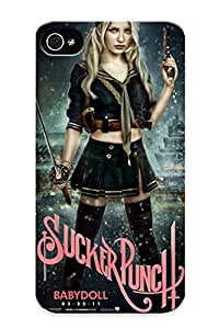 Guidepostee Case Cover For Iphone 4/4s - Retailer Packaging Sucker Punch Women Females Girls Babes Sexy Sensual Actress Celebrities Weapons Gun Rifle Machine Sci Fi Science Fiction Protective Case
