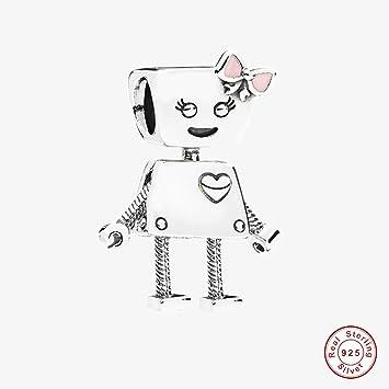 594206d24 COOLTASTE European 2018 Spring Bella Bot Pink Enamel Bead 925 Silver DIY  Fits for Original Pandora