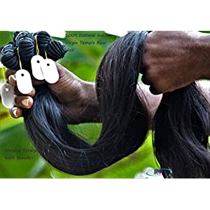 """Unprocessed Virgin Indian Remy Hair 28""""30""""32""""34"""" Straight 4 Bundles 100% Indian raw hair direct from India hair factory…"""