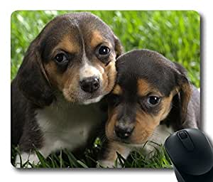 Two dogs sit together Rectangle Mouse Pad by icasepersonalized by mcsharks