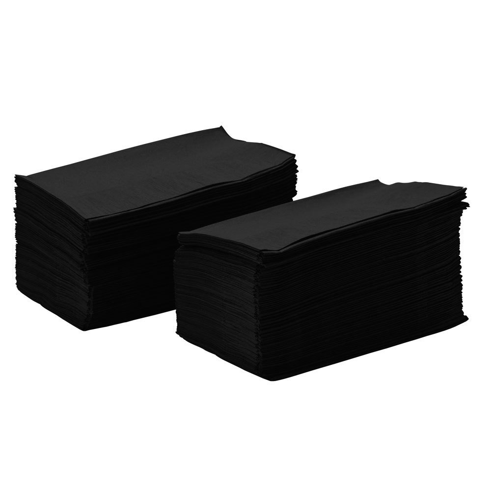 Choice 15'' x 17'' Customizable Black 2-Ply Paper Dinner Napkin - 1000/Case