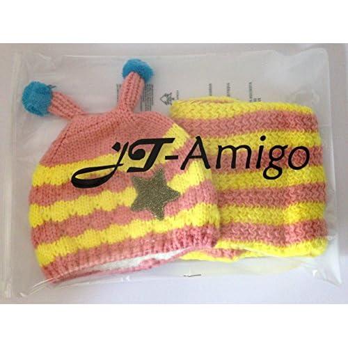 50% de descuento JT-Amigo (Set de 2 ) Gorro con Bufanda para Bebé ... a0183d3a872