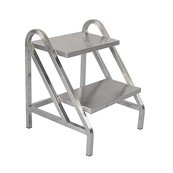 ZYHua Escalera dedicada para almacén, metal Escalera silenciosa de polea Escalera de dos pasos Tamaño