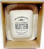 Mrs. Winterbottom Butterdose, aus Keramik, weiße Butterdose, aus Keramik