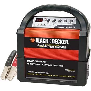 BLACK+DECKER VEC1093DBD Smart Battery 40/20/10/4 Amp Battery Charger