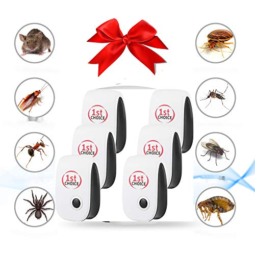 Ultrasonic Pest Repeller, Ultrasonic Pest Repellent Indoor Pest Control Electronic Plug in Insect Repellent for Home…