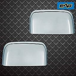 E-Autogrilles Chrome ABS Upper Half Mirror Cover for 08-16 Ford F250/F350 Super Duty