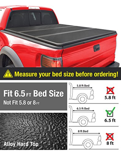 MaxMate Alloy Tri-Fold Hard Top Truck Bed Tonneau Cover for 2002-2019 Dodge Ram 1500 (2019 Classic ONLY); 2003-2018 Dodge Ram 2500 3500 | Without Ram Box | Fleetside 6.5' Bed
