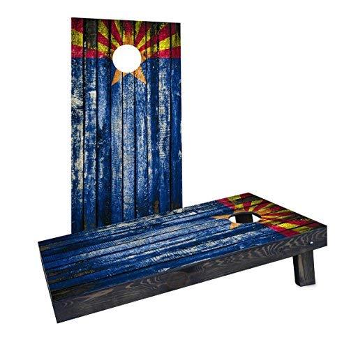 割引発見 Custom Cornhole Boards CCB1488-AW Wooden Distressed State Flag Cornhole (Arizona) (Arizona) CCB1488-AW Cornhole Boards [並行輸入品] B07HLFZ29S, スタイルTY:8e578b62 --- arianechie.dominiotemporario.com
