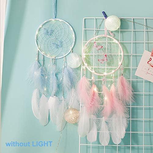 16cm * 50cm Dream Catchers with Butterfly,MUZIEBA Dream Catcher Home Decor Ornament Room Decor Wall Decor Gifts for Women /& Girls