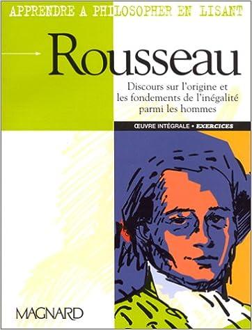 livre pdf gratuit télécharger Apprendre à philosopher en lisant Rousseau