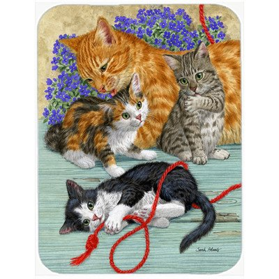 Caroline's Treasures Cats Glass Cutting Board, Large, Multicolor