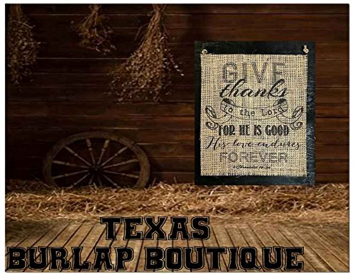 Burlap Country Rustic Chic Wedding Sign Western Home Décor