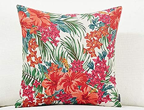 LINGKEAI Cojín Cojín del sofá Tropical Rain Forest Flower ...