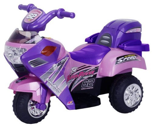 Best Ride on Cars 262R 6V Princess 3 Wheeler Motorcycle, Pink
