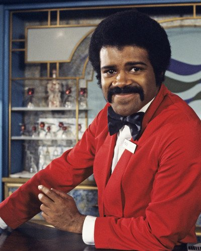 The Love Boat Ted Lange posing behind bar as Isaac 8x10 Promotional Photograph -