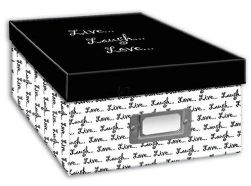 Pioneer Photo Albums B-1BW Photo Storage Box, Live, Laugh, Love
