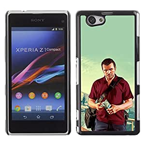 All Phone Most Case / Oferta Especial Duro Teléfono Inteligente PC Cáscara Funda Cubierta de proteccion Caso / Hard Case Xperia Z1 Compact D5503 // G T A - Michael Poster