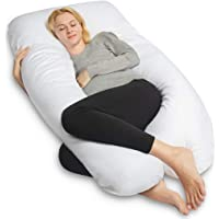 QUEEN ROSE Full Body Pregnancy Pillow with Washable Cover-U Shaped