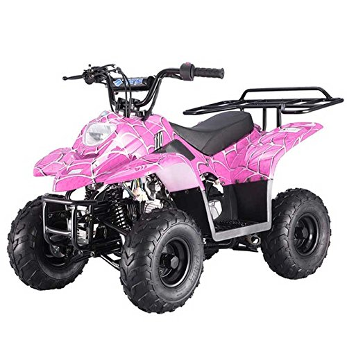 FamilyGoKarts Boulder 400XR Kids ATV in Pink Spider with a 6 Month Warranty
