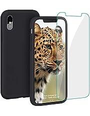 ProBien Hülle für iPhone X/iPhone XS, Silikon Handyhülle mit Kostenlos Panzerglas, Anti-Fingerabdruck Schutzhülle Kratzfest Bumper Cover für iPhone X/iPhone XS