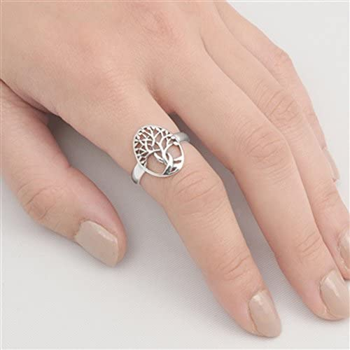 Tree of Life Twisted Knot Branch Ring New .925 Sterling Silver Band Sizes 5-10