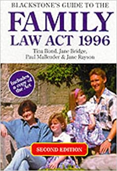 Blackstone's Guide to the Family Law Act, 1996 1999