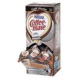Liquid Coffee Creamer, Cafeacute; Mocha, 0.375 oz Cups, 50/Box, 4 Box/Carton