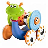 Yookidoo Musical Crawl N' Go Snail With Stacker - Rolls And Spins Its Shell As It M ves Best Developmental Toy - 2 Toys in 1