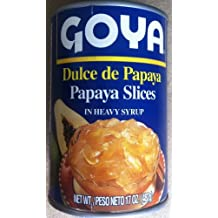 Goya - Dulce de Papaya (Papaya slices in heavy syrup) 4 pack, 17oz each
