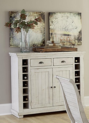 Progressive Furniture Willow Distressed White Server, Distressed (Furniture Server)