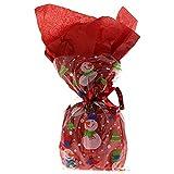 20 Snowman Glee Cellophane Sweet Display Bags