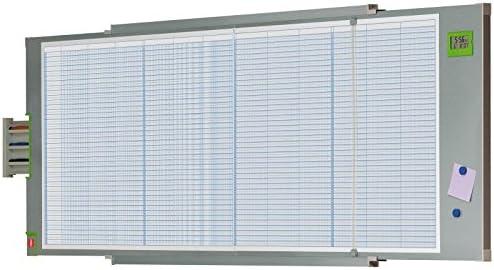 Val-Rex Planner Año magnético con 80 filas y 12 columnas de 60 x 185 cm [ Francés Import]: Amazon.es: Oficina y papelería