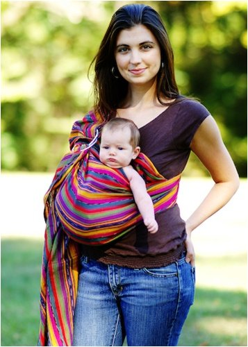 e95d9484f8a Buy Maya Wrap Lightly Padded Baby Ring Sling Carrier (Medium - Bright  Stripe) Online at Low Prices in India - Amazon.in