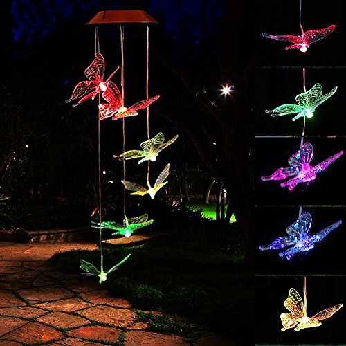 Solar Wind Powered Led Garden Light Set