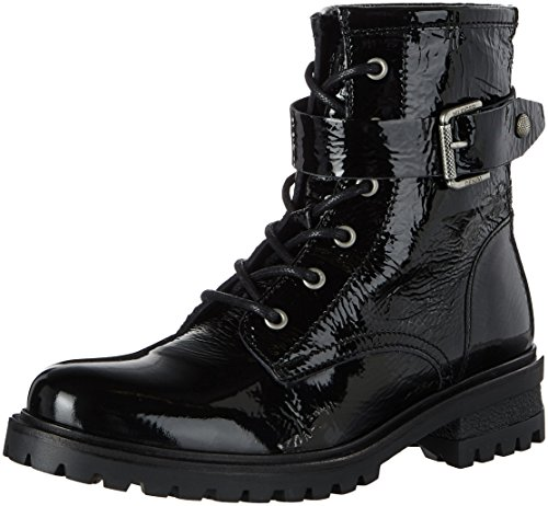 Denim C1385orey Damen Boots Combat 5a Hilfiger HqTEcfZdH