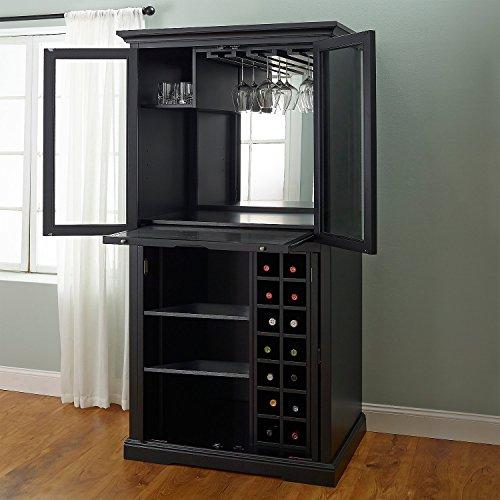 Firenze Wine and Spirits Armoire Bar - Nero - Wine Refrigerator Credenza