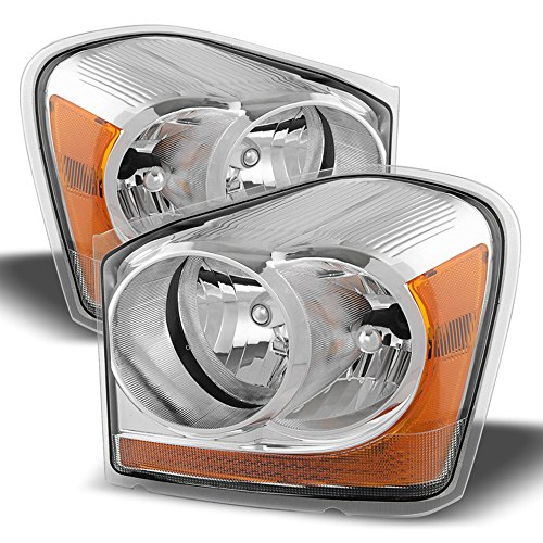 ACANII - For 2004-2005 Dodge Durango Replacement Headlights 04 05 Front Head Lamps Driver + Passenger ()