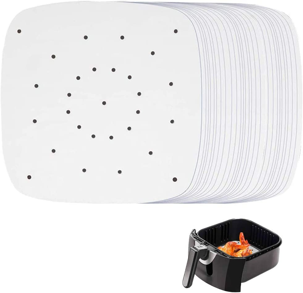 200pcs Air Fryer Parchment Paper, 8.5 inch Perforated Parchment Air Fryer Liners for Air Fryer, Baking Paper for Oven Nonstick, Baking Cookies, Bread, Meat, Pizza, Toaster Oven