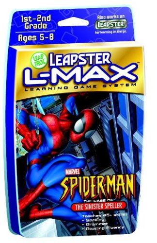(LeapFrog Leapster L-Max8482; Educational Game: Spider-Man The Case of the Sinister Speller)