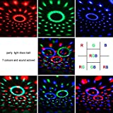 COIDEA Disco Ball Strobe Light Party Lights Disco Lights Karaoke Machine 3W Dj Light LED Portable 7Colors Sound Activated Stage Lights for Festival Bar Club Party Outdoor and More (with Remote)