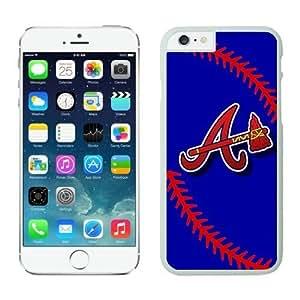 LarryToliver NEW DIY Case Team Atlanta Braves for iPhone 6 Cases(4.7 inch)-Baseball White