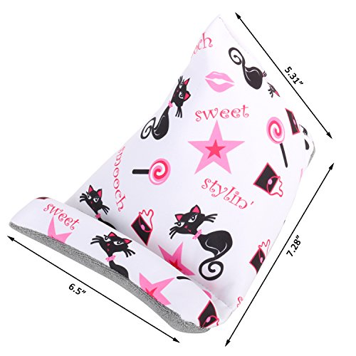 Plinrise Cute Fabric Phone Stands Ipad/Tablets Sofa/Pillow Holder, Lap Stand, Bean Bag, Soft Mounts For iPad Pro Air mini, iPad 4 3 2 1, Microsoft Surface Pro, E-Readers (Cat) by Z PLINRISE (Image #1)