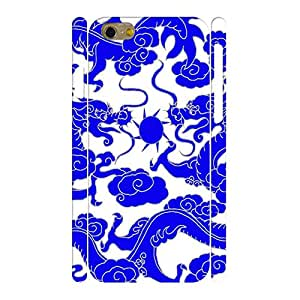 Art Designed Dragon Image Blue And White Porcelain Theme Hard Plastic Case for Iphone 6 4.7 Inches