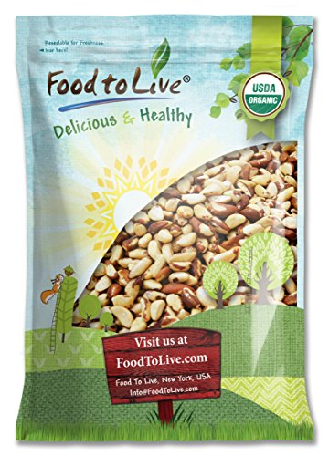 Food to Live Organic Brazil Nuts (Raw, No Shell, Kosher) (18 Pounds) by Food to Live