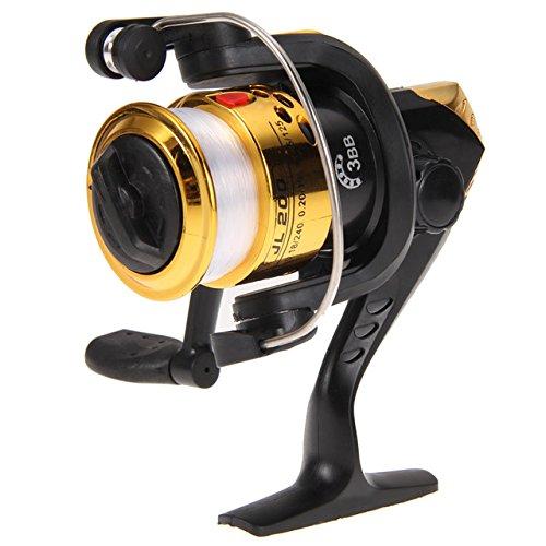 Fishing Reel Baitcaster Reels - Fishing Reel Spinning 2017 Aluminum Body Bait Casting Reels High Speed G-Ratio 5.2:1 Fishing Reels With Line Fish Reels - Left Handed Baitcaster (Gold)