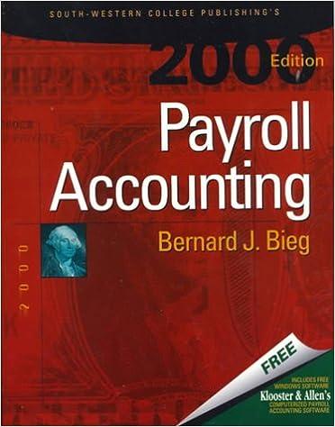 Payroll accounting bernard j bieg 9780324014587 amazon books fandeluxe Choice Image
