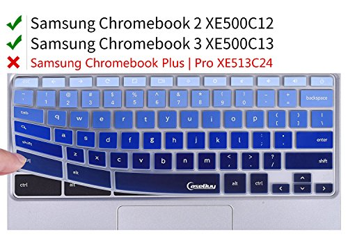 For-Samsung-Chromebook-Keyboard-Cover-Ultra-Thin-Keyboard-Skin-for-Samsung-ARM-116-Chromebook-2-XE500C12-Chromebook-3-XE500C13-116-inch-Chromebook-Gradual-Blue